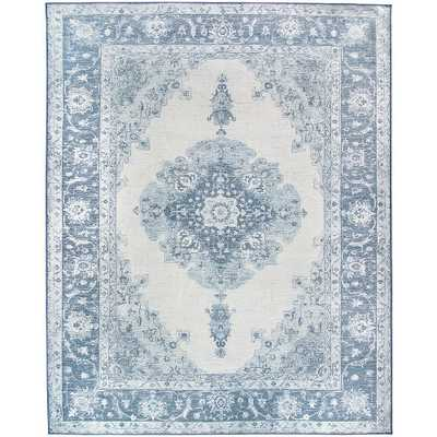 Ruggable Washable Parisa Blue 8 ft. x 10 ft. Area Rug & Pad - Home Depot