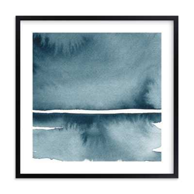 """Winter Windswept, 24"""" x 24"""" in Rich Black Wood Frame with White Border - Minted"""