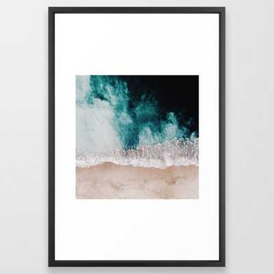 Ocean (Drone Photography) Framed Art Print - Society6