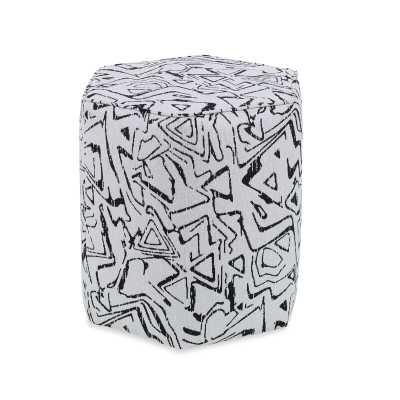 """Sorel 19"""" Hexagonal Abstract Pouf Ottoman - Perigold"""