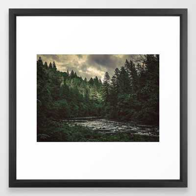 Pacific Northwest River - Nature Photography Framed Art Print - Society6