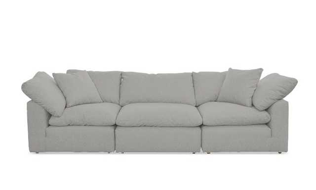 Gray Bryant Mid Century Modern Modular Sofa (3 piece) - Sunbrella Premier Fog - Joybird