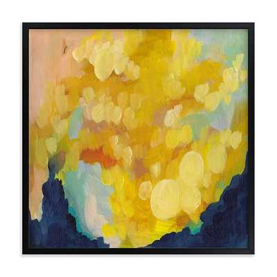 Goldenrod, Full Bleed 24x24, Black Wood Frame - West Elm
