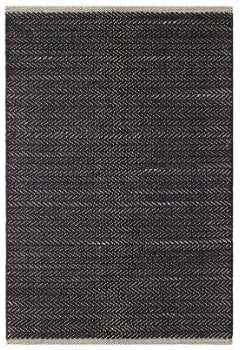 HERRINGBONE BLACK WOVEN COTTON RUG, 6x9 - Dash and Albert
