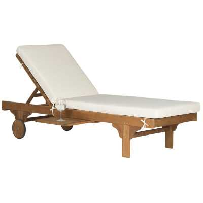 Alvah Reclining Chaise Lounge with Cushion - Wayfair