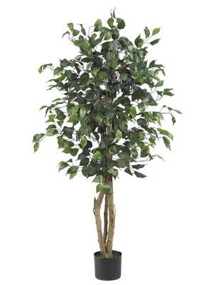 Artificial Ficus Tree in Planter - Wayfair
