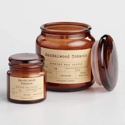 Sandalwood and Tobacco Filled Apothecary Jar Candle - Medium by World Market Medium - World Market/Cost Plus