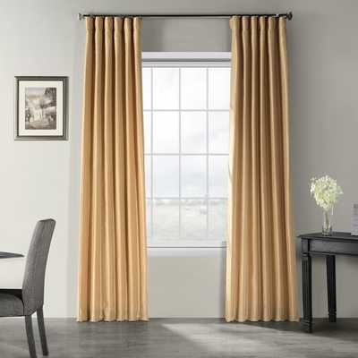 FORBELL SOLID VINTAGE TEXTURED FAUX DUPIONI SILK ROD POCKET SINGLE CURTAIN PANEL - Birch Lane