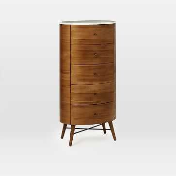 Penelope 5-Drawer Dresser, Acorn/Marble - West Elm