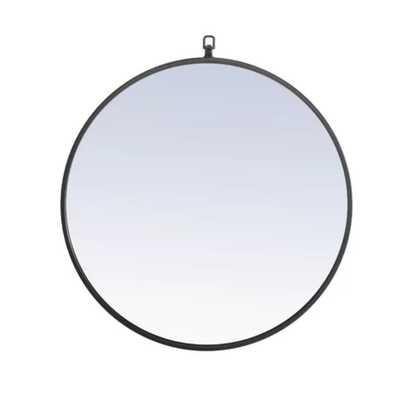 "Yedinak Modern and Contemporary Accent Mirror Black, 24"" x 24"" - AllModern"