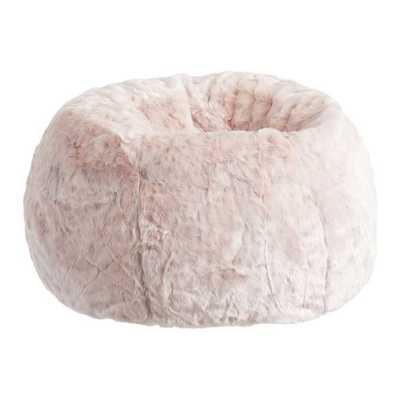Blush Leopard Bean Bag Chair Set, Large-Cover + Insert - Pottery Barn Teen