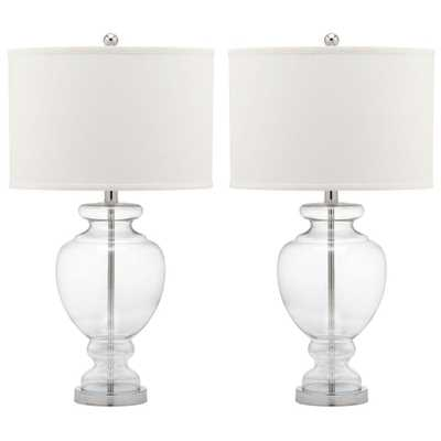 CLEAR GLASS TABLE LAMP - Set of 2 - Home Depot