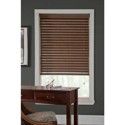 CUSTOM Veneta Classic 2-1/2 in. Faux Wood Blind, Custom 45 x 50 - Home Depot