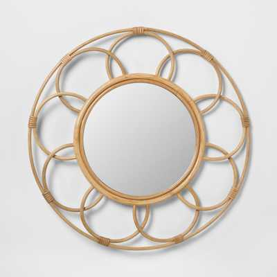 Round Rattan Mirror with Scalloped Border - Opalhouse - Target