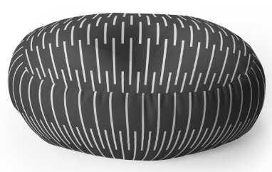 MERIDIAN Floor Pillow Round -26''Round- Polyfill - Wander Print Co.
