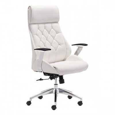 Boutique Office Chair White - Zuri Studios
