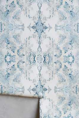 Inner Beauty Wallpaper - Blue - Anthropologie