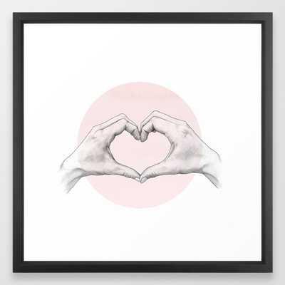 heart in hands // hand study Framed Art Print - Society6