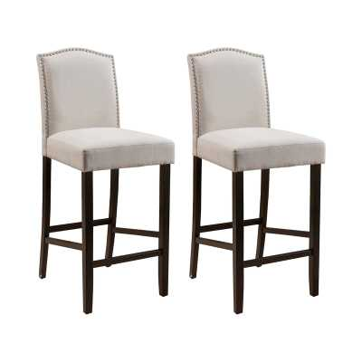 "Baltimore 30"" Bar Stool (set of 2) - Wayfair"