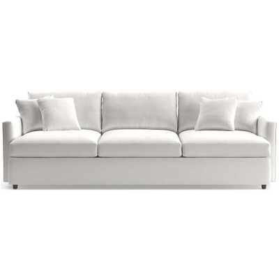 """Lounge II 3-Seat 105"""" Grande Sofa - View white Family friendly fabric - Crate and Barrel"""