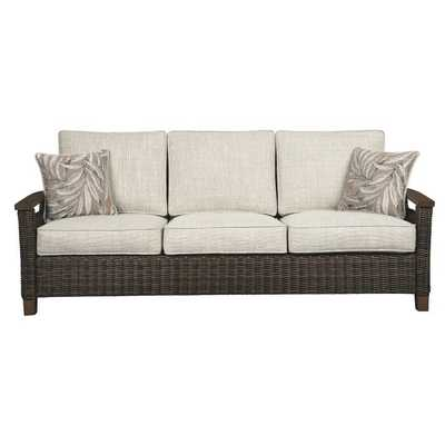 Estill Patio Sofa with Cushions - Wayfair
