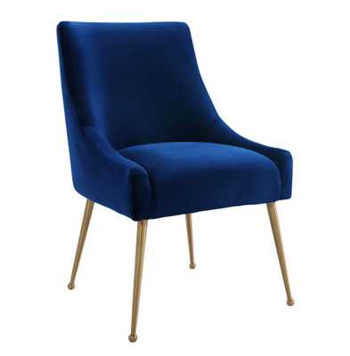 Beatrix Velvet Side Chair - Overstock