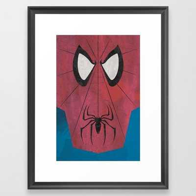 "Minimal Spiderman Art Framed Print 20 x 26"" - Society6"
