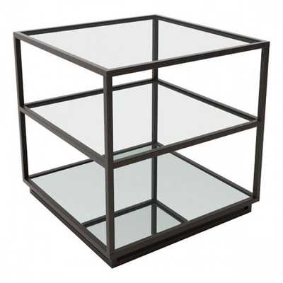 Kure End Table-Distressed Black - Zuri Studios
