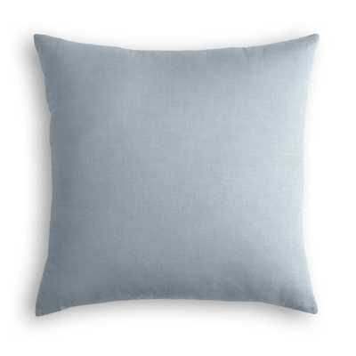 "Classic Linen Pillow, Dusk, 18"" x 18"" w/ Down Insert - Havenly Essentials"