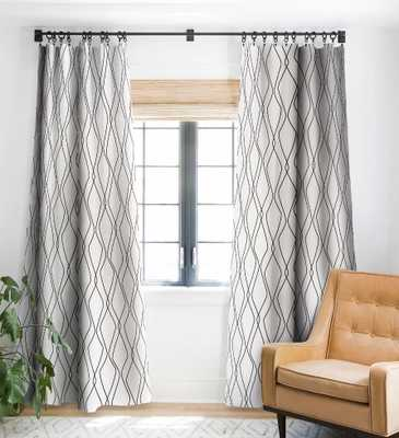 Heather Dutton Fuge Stone Blackout Window Curtain - Single Panel - Wander Print Co.