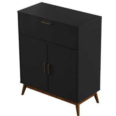 Jahn Accent Cabinet, Black - Wayfair