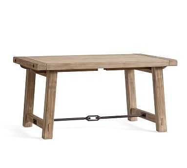 "Benchwright Extending Dining Table, Small 60"" - 84"" L, Seadrift - Pottery Barn"