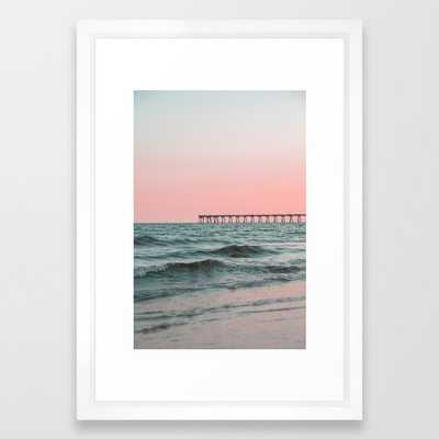 Pink Ocean Framed Art Print - Society6