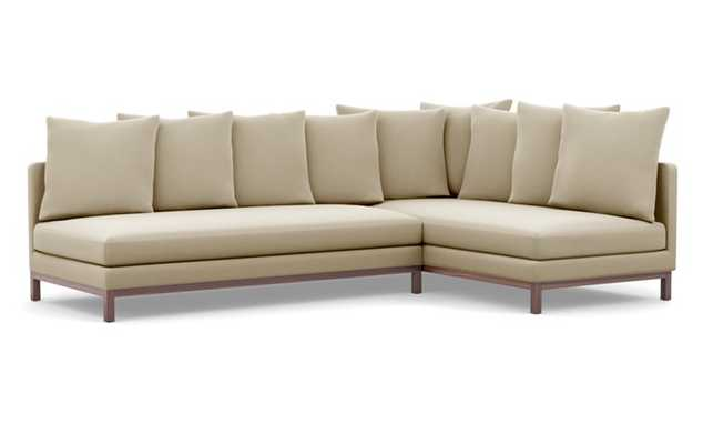 Jasper Long, Deep Right Chaise Sectional Sofa with Scatter Pillows - Interior Define