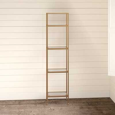 "Otha 73"" H x 18"" W Metal Etagere Bookcase - Wayfair"