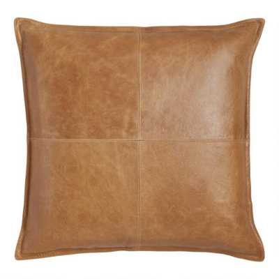Tan Leather Kona Throw Pillow - World Market/Cost Plus