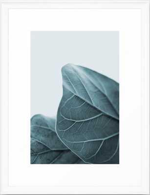 Teal Plant Leaves Framed Art Print - Society6