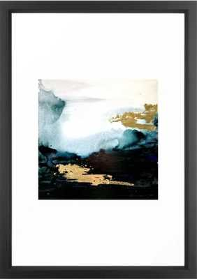Gold and Teal Landscape Framed Art Print - Society6