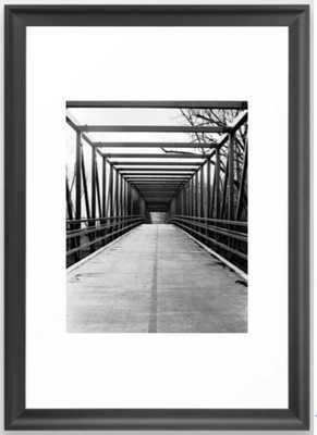 Bridge to Nowhere Black and White Photography Framed Art Print - Society6
