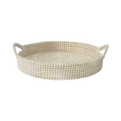 Mcbee Seagrass Serving Tray, 17.7'' W x 17.7'' L x 4.3'' H - Wayfair