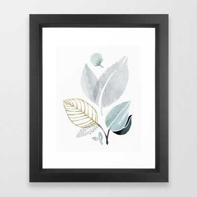 Sage and Such - Abstract Watercolor Botanical Framed Art Print - Society6