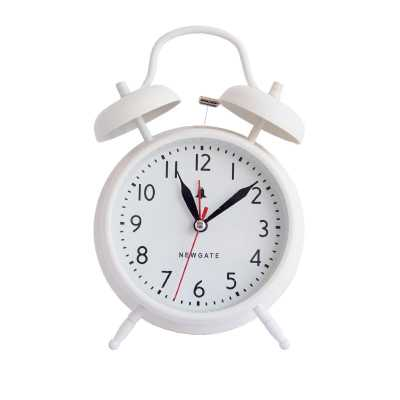 TWIN BELL ALARM CLOCK - LINEN WHITE - McGee & Co.