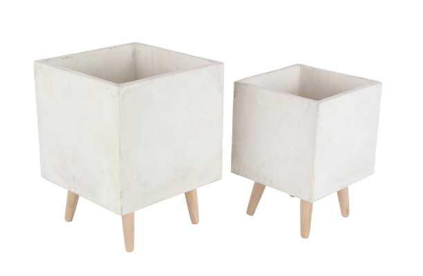 Diller Fiberclay 2-Piece Pot Planter Set - Wayfair
