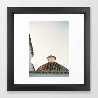 "Travel photography ""Ibiza Sunset rooftop"" | Modern wall art pastel poster spain Framed Art Print - Society6"