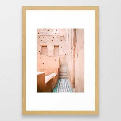 "Colors of Marrakech Morocco - El badi palace photo print | Pastel travel photography art Framed Art Print, 15"" x 21"" - Society6"