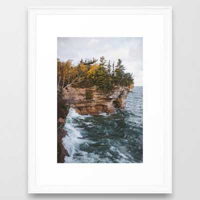 Indian Drum Pictured Rocks National Lakeshore, Michigan Framed Art Print - Society6
