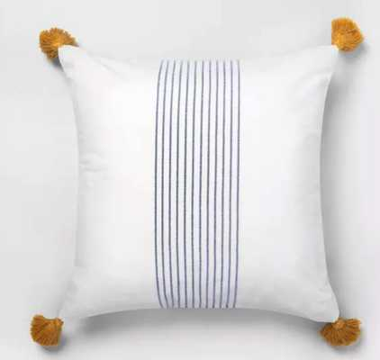 Center Stripes Tassel Throw Pillow - Hearth & Hand™ with Magnolia - Target