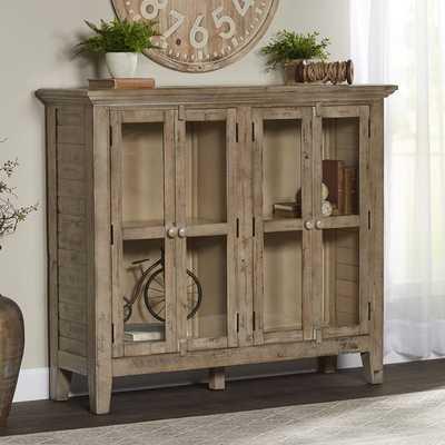 Zachary 4 Door Accent Cabinet / Watch hill weathered gray wood - Birch Lane