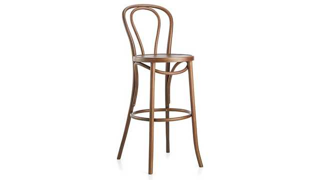 Vienna Walnut Counter Stool - Walnut - Crate and Barrel