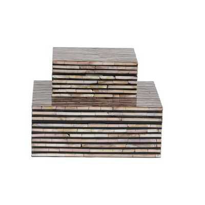 Wood Mop 2 Piece Decorative Box Set - Wayfair